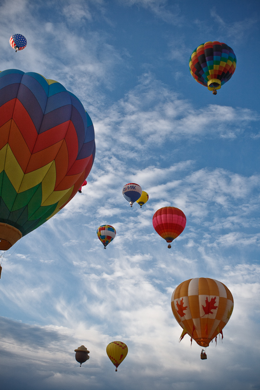 hot air balloons, Fourth of July, 4th,