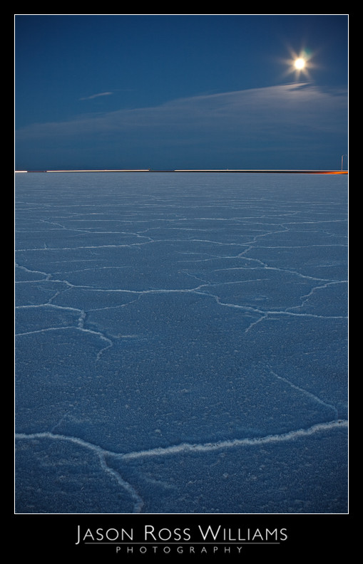 salt flats, Salt Lake City, Bonneville Salt Flats, cracked, ground, Utah, highway, freeway, moon, night, sky