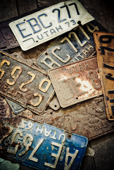 license, plates, old, ghost town, vintage, antique, vehicle, car, automobile, rusty, Eureka, Utah