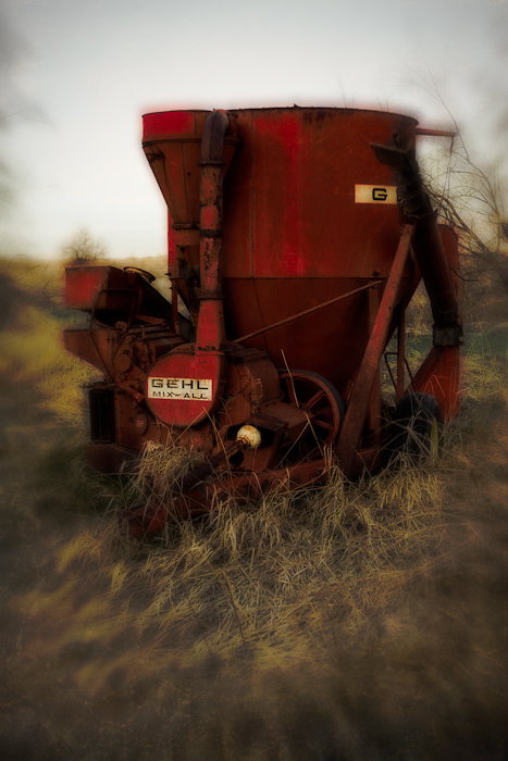 lensbaby, geneva, road, sign, letters, Gehl, Mix-All, farm, equipment, field, red, Provo, Utah, Orem