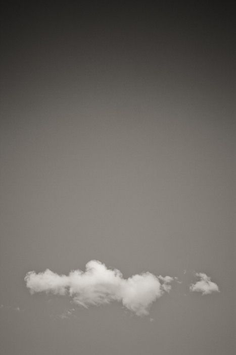 cloud, sky, black, white