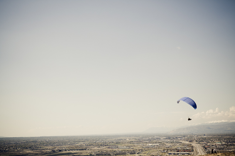 clouds, field, Flight Park, mountain, parachute, paraglider, paragliding, park, sky, Utah