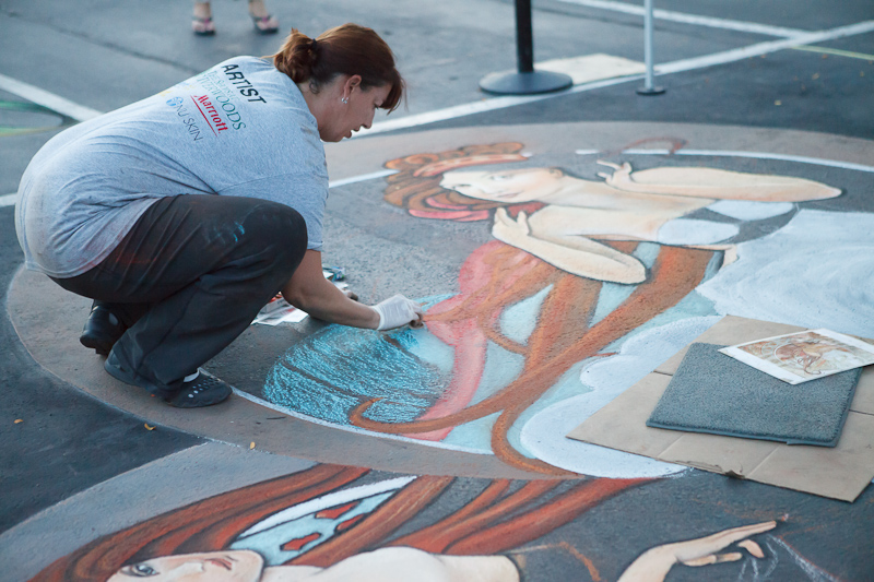 Dawn Morrison Wagner Art Nouveau chalk art at Chalk The Block 2012 in Provo, UT