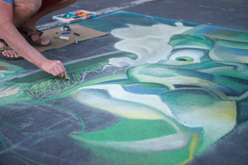 The Wizard of Oz chalk art at Chalk The Block 2012 in Provo, UT
