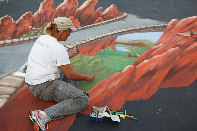 Southern Utah Bridge chalk art at Chalk The Block 2012 in Provo, UT