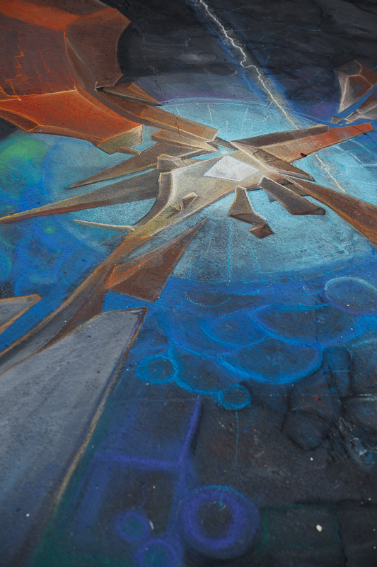 Crystal chalk art at Chalk The Block 2012 in Provo, UT